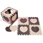Foam puzzel mat Bruin / Beige hart