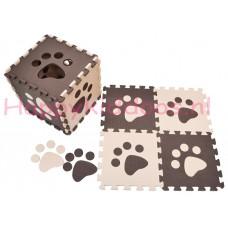 Foam puzzel mat Bruin / Beige pootafdruk