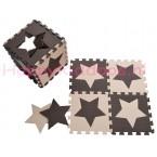 Foam puzzel mat Bruin / Beige ster