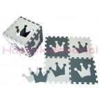 Foam puzzel mat Grijs / Witte Kroon