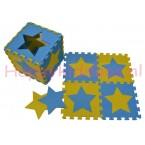 Foam puzzel mat Blauw / Gele ster