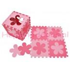 Foam puzzel mat Roze / licht Roze bloem