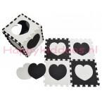 Foam puzzel mat Zwart / Wit hart