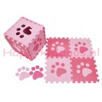 Foam puzzel mat Roze / licht Roze pootafdruk