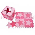 Foam puzzel mat Roze / licht Roze ster