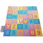 Foam puzzel mat ABC + cijfers in verschillende kleuren 121 delig