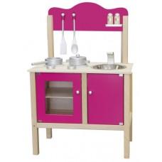 Houten keukentje roze